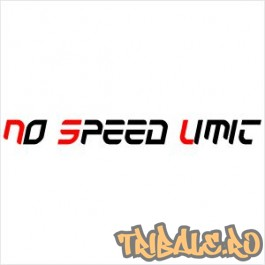 """Sticker """"No Speed Limit"""""""