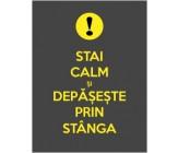 "Sticker ""Stai calm si depaseste prin stanga"""