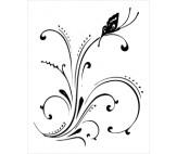 """Sticker """"Floare cu fluture"""""""